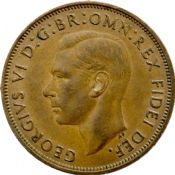 1937-1951 Penny George VI Grades From Fine to EF